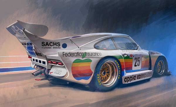 Porsche 1980 Le Mans illustration