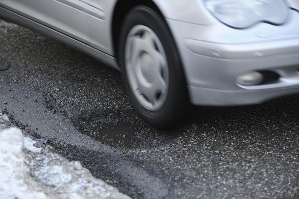 car-pothole