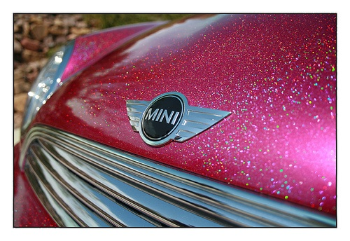 Mini Cooper Pink Vinyl