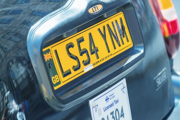 taxi-number-plate
